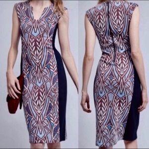 Anthropologie HD in Paris Cleo Sheath Dress Sz S